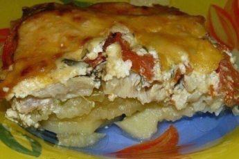 Картофель запечённый с рыбкой