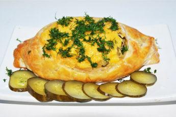Лодочки с картофелем мясом и огурцом