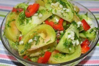 Зелёные помидоры закусочные.